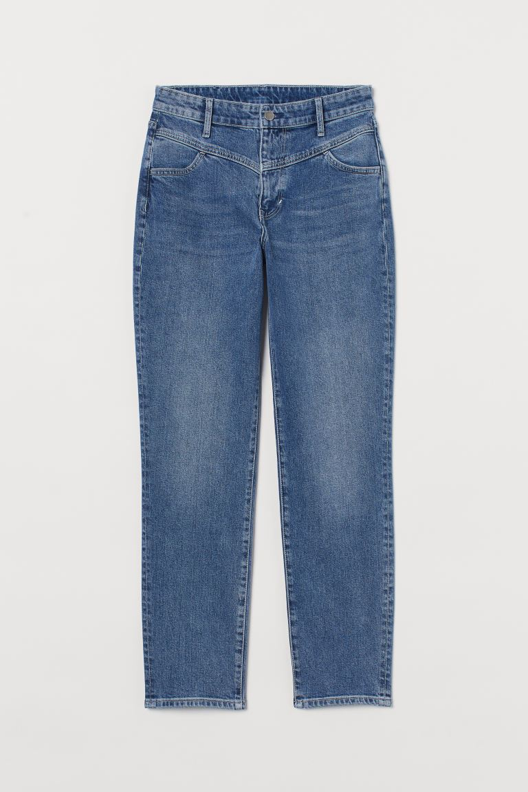 Mom Ultra High Ankle Jeans - Bleu denim - FEMME | H&M FR