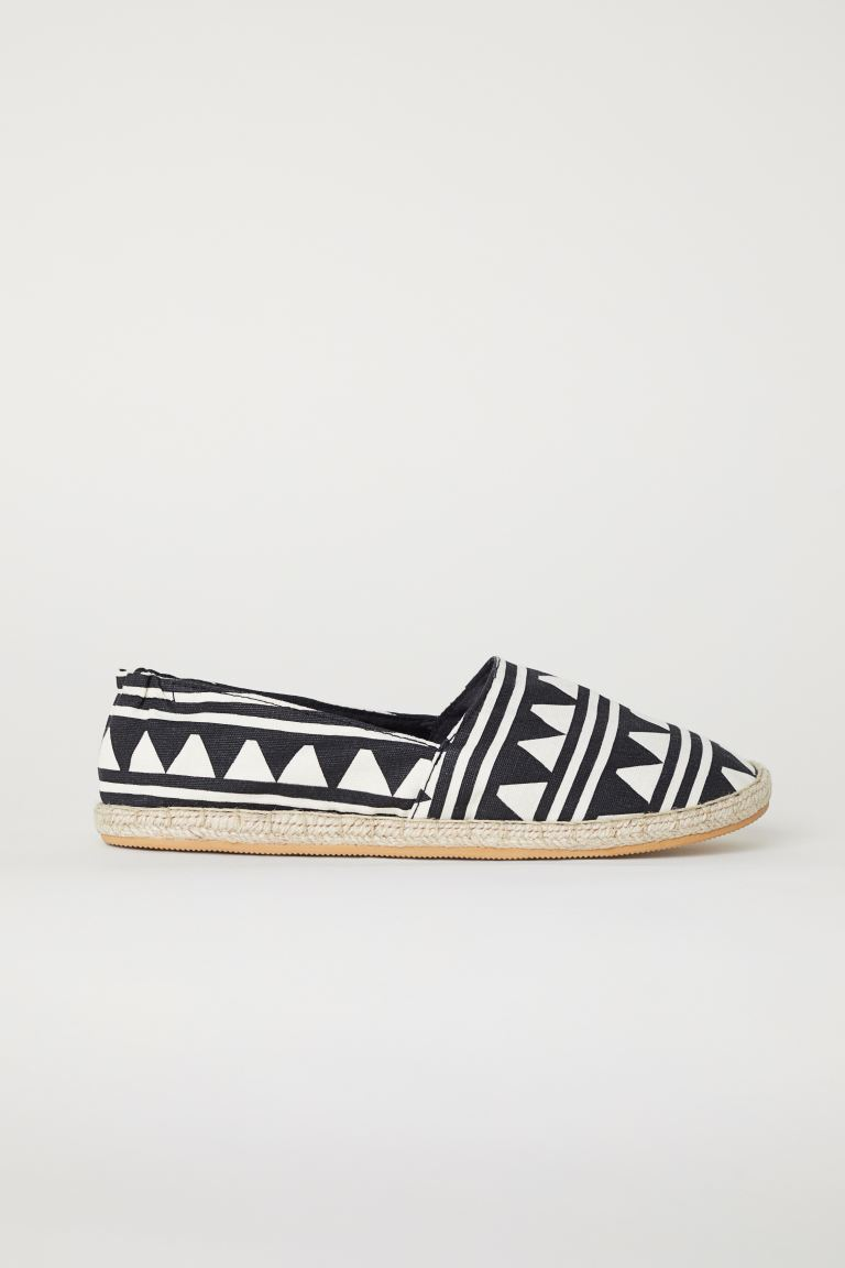 Espadrilles - Black/White patterned - Ladies | H&M IN