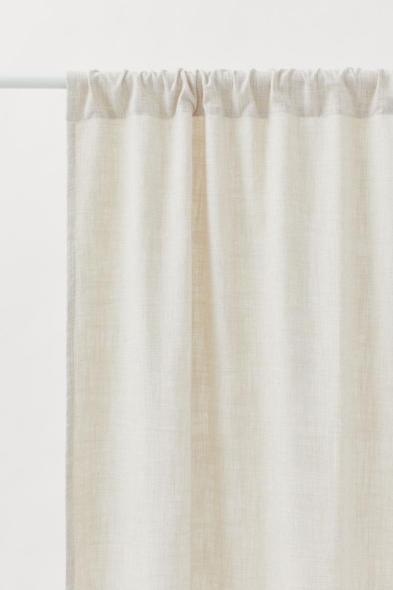2-pack Curtain Panels - Natural white - Home All | H&M US