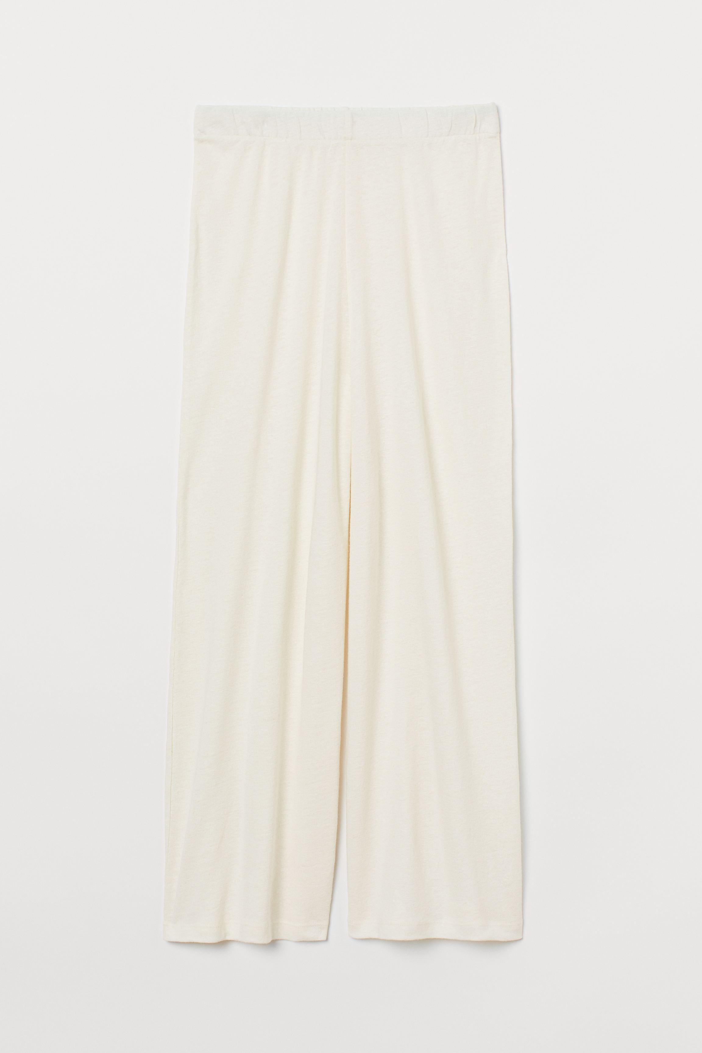 Wide-cut Jersey Pants