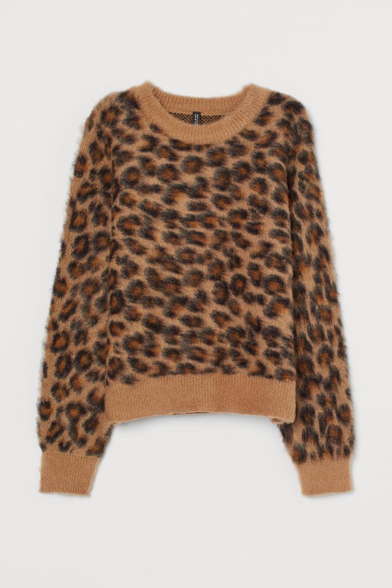 leopardmönstrad tröja dam