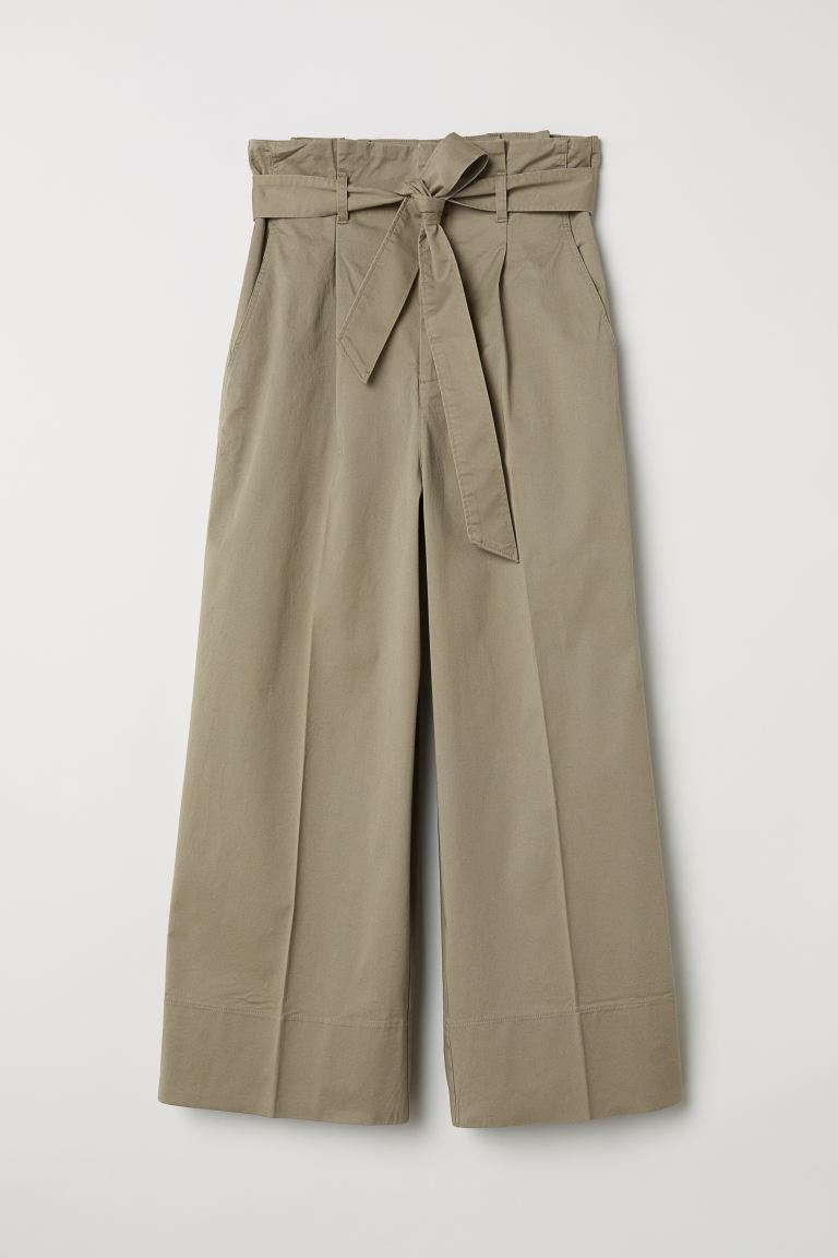 Wide-leg Pants - Beige - Ladies | H&M US