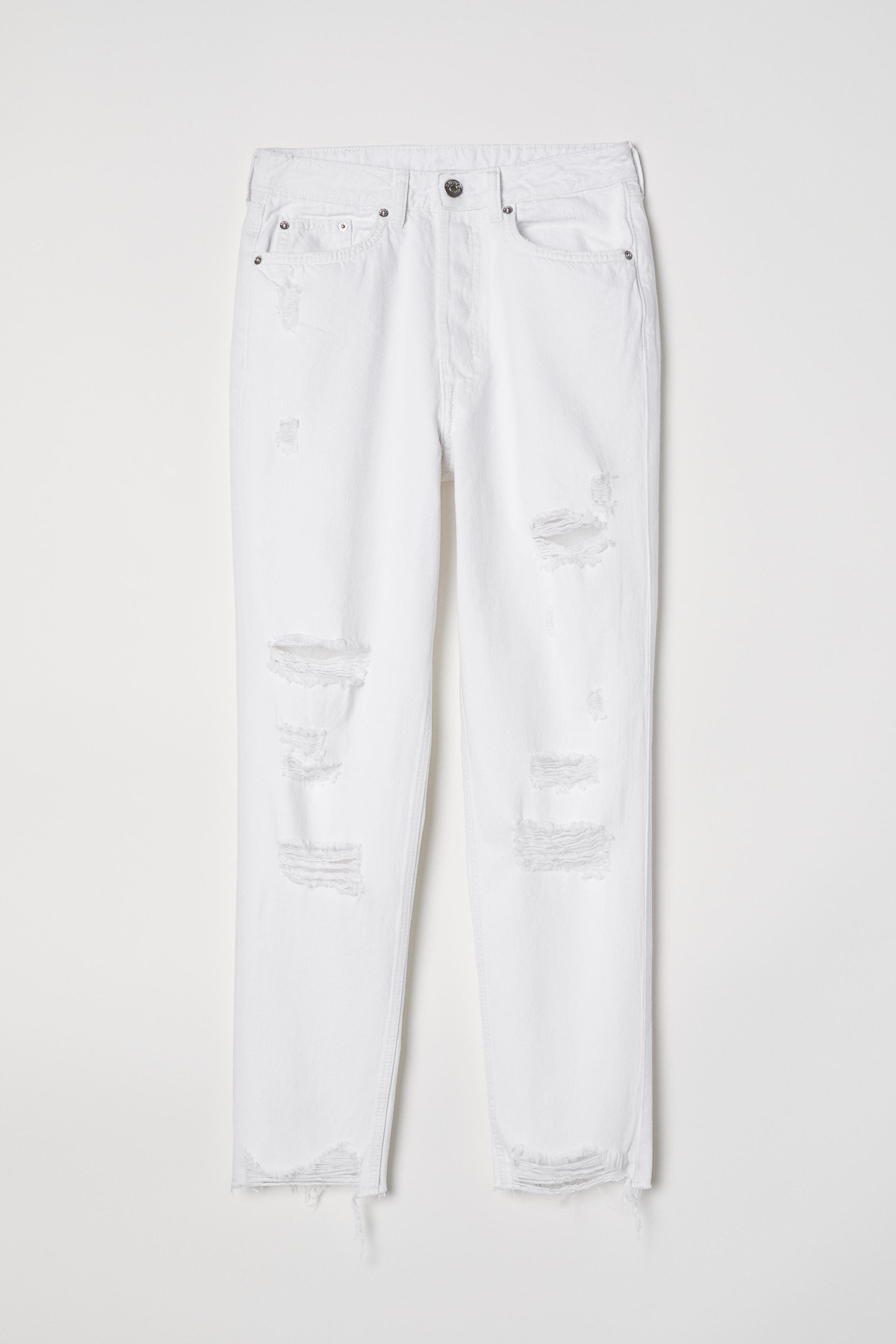 Slim Mom High Ankle Jeans