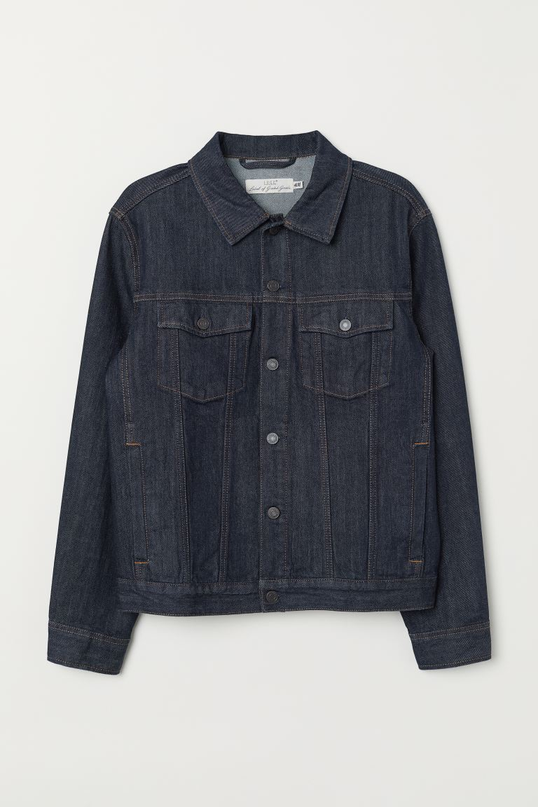 Denim jacket - Dark denim blue - Men | H&M GB