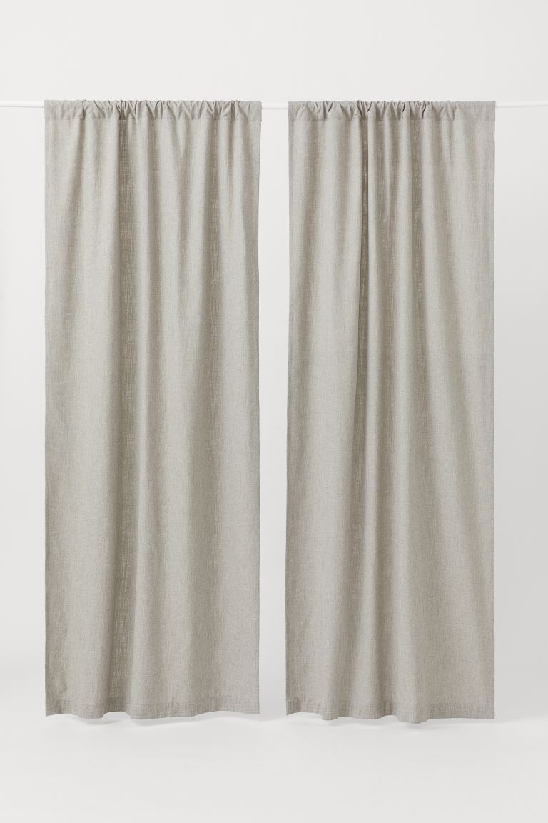 2-pack Curtain Panels - Light taupe - Home All | H&M US
