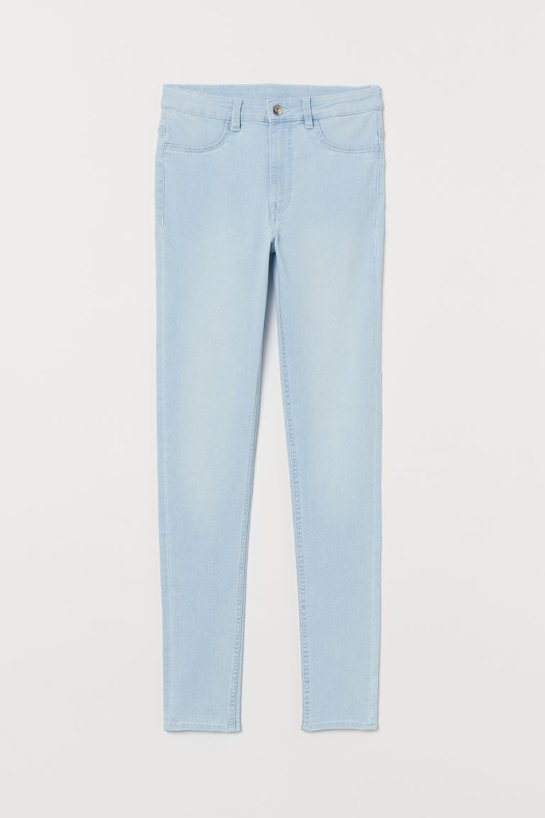 Super Skinny High Jeans - Light blue denim - Ladies | H&M
