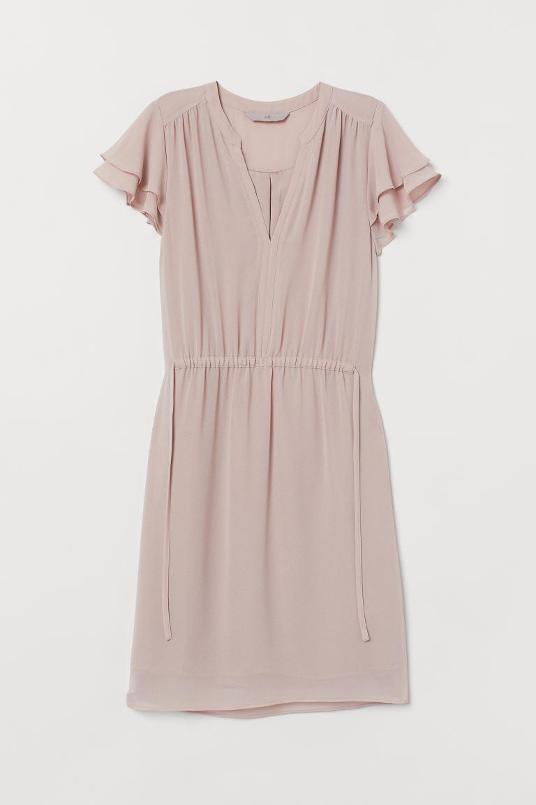 V-neck Dress - Powder pink - Ladies | H&M US