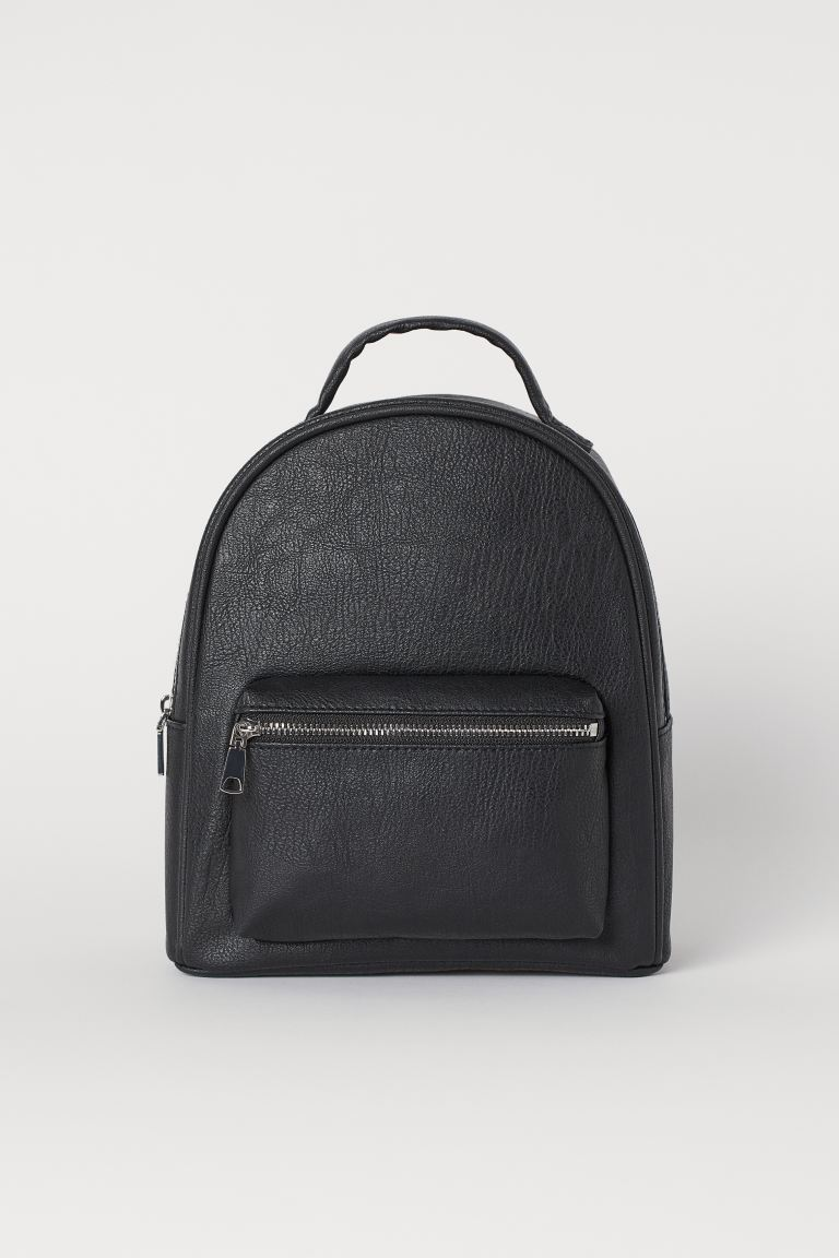 Small Backpack - Black/Faux leather - Ladies | H&M AU