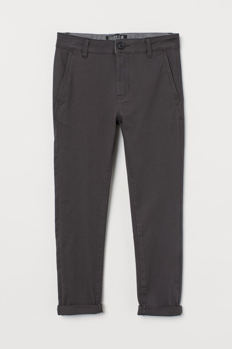 Slim Fit Chinos - Dark grey - Kids | H&M