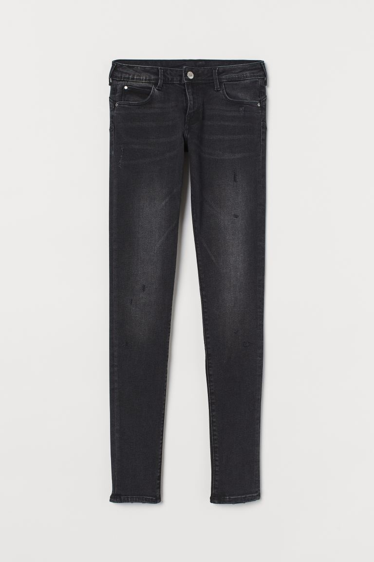 Push up Low Jeggings - Svart denim - DAM | H&M SE