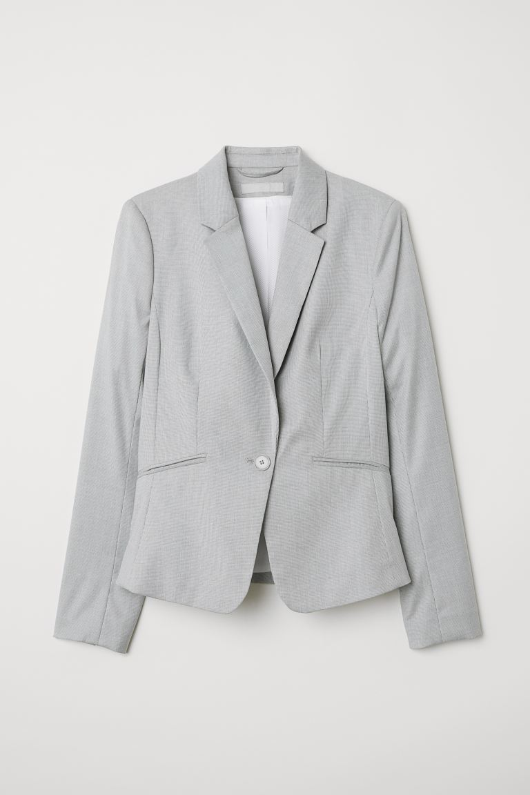 Fitted jacket - Light grey - Ladies | H&M GB