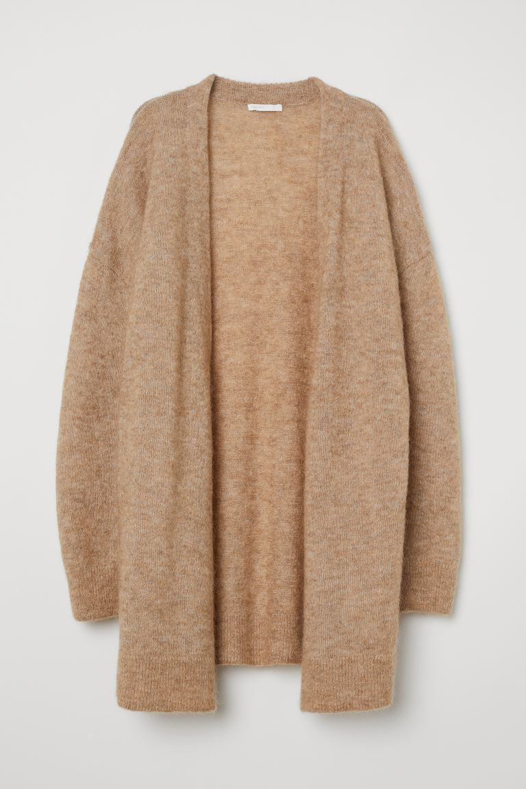 Mohair-blend Cardigan - Beige melange - Ladies | H&M US