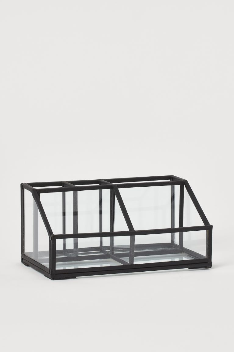 Clear Glass Makeup Organizer - Black - Home All | H&M US