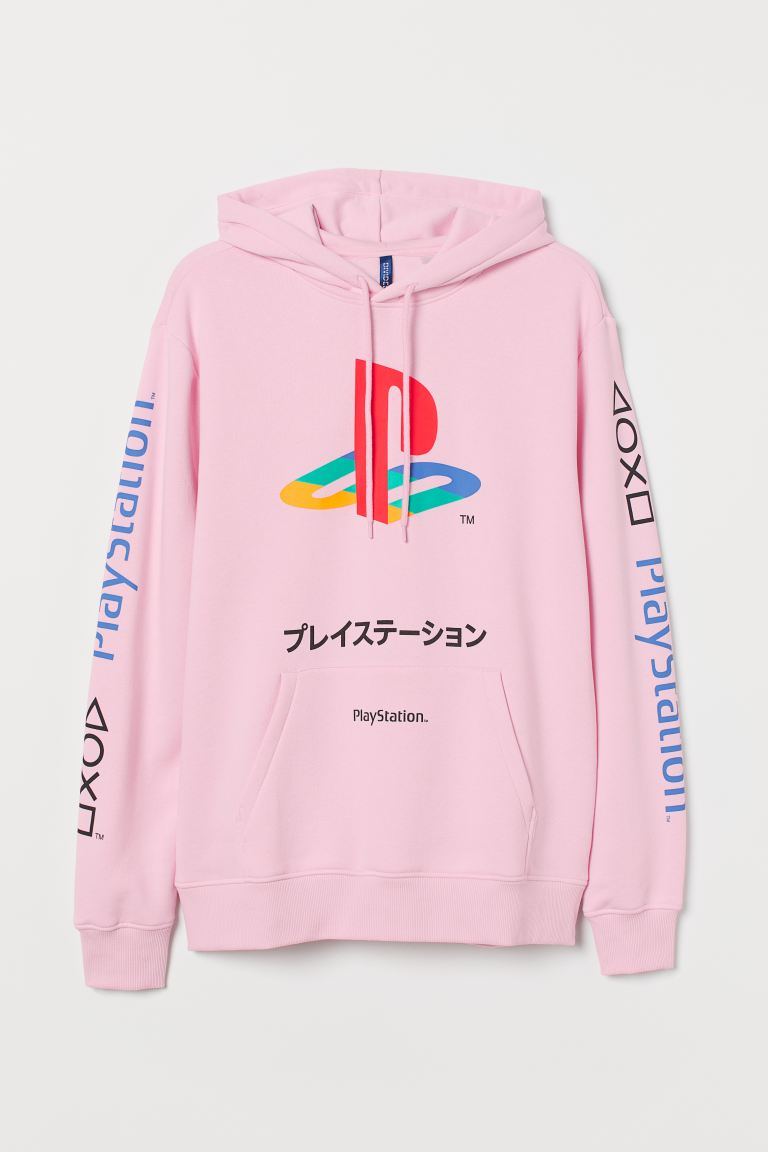 Hoodie - Pink/PlayStation - Men | H&M GB