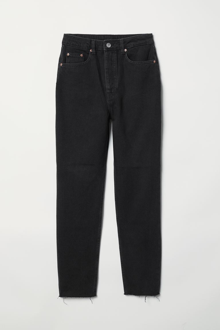 Slim Mom High Ankle Jeans - Musta denim - NAISET | H&M FI