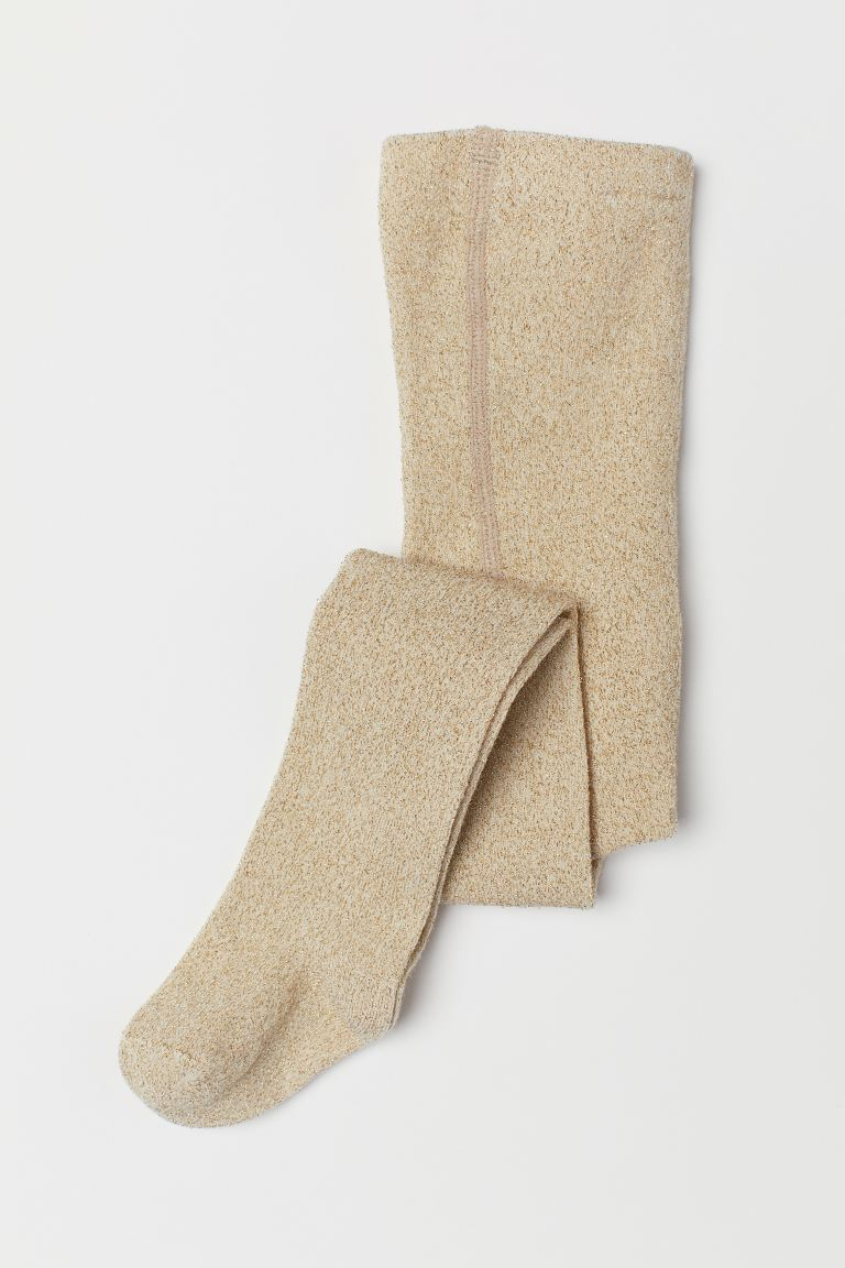 Glittery Tights - Gold-colored - Kids | H&M US