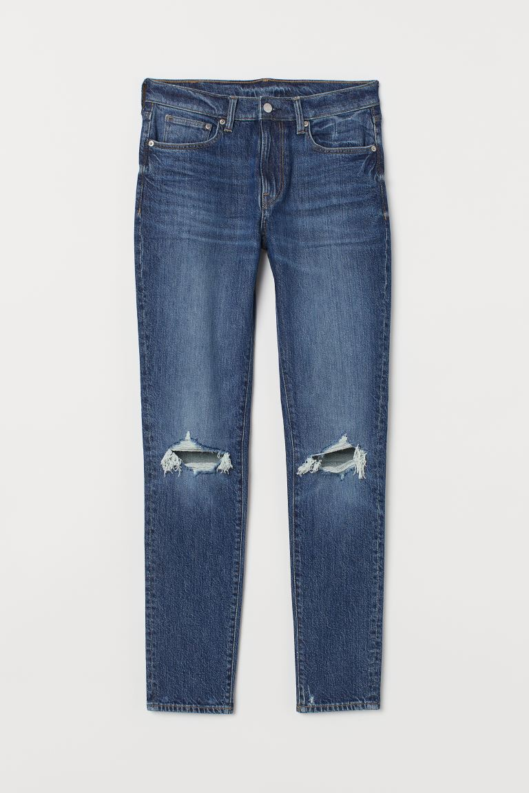 Skinny Jeans - Azul denim/Destruido - Men | H&M US