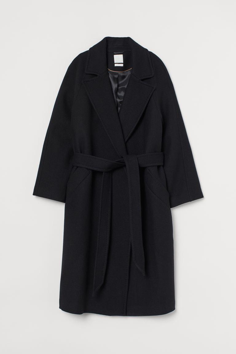 Wool-blend Coat - Black - Ladies | H&M US 5
