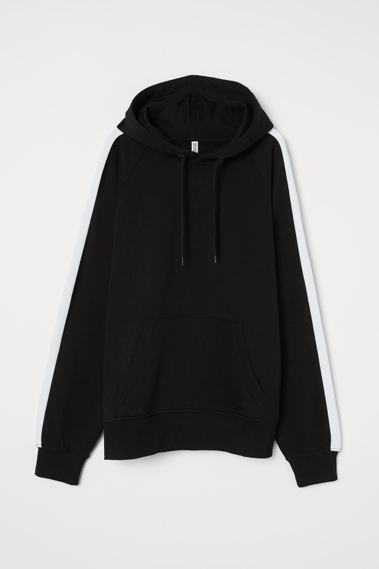 Hooded top - Black/White - Ladies | H&M