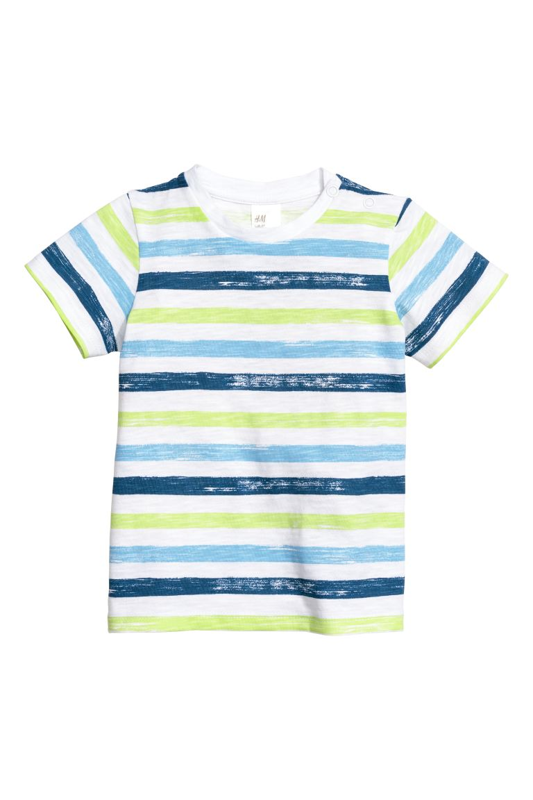 T-shirt - Blue/Striped - Kids | H&M GB