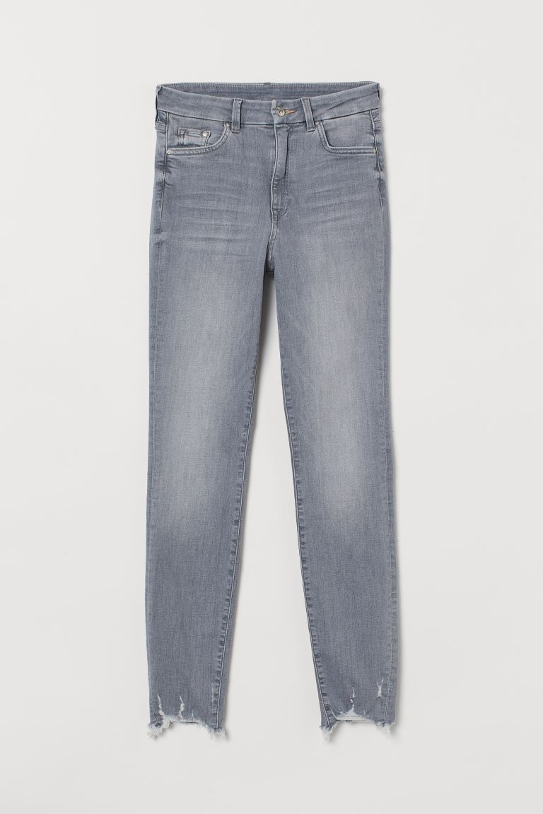Embrace High Ankle Jeans - Grigio chiaro - DONNA | H&M IT