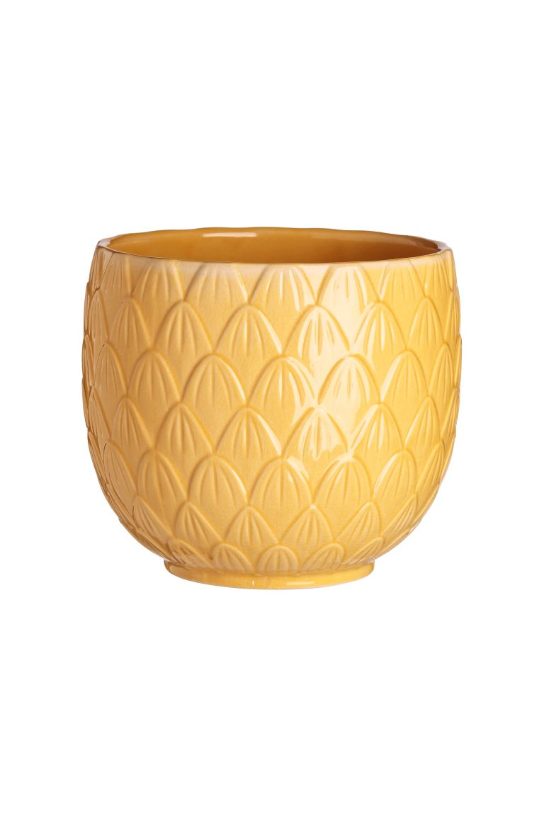 Portavaso in gres - Giallo - HOME | H&M IT