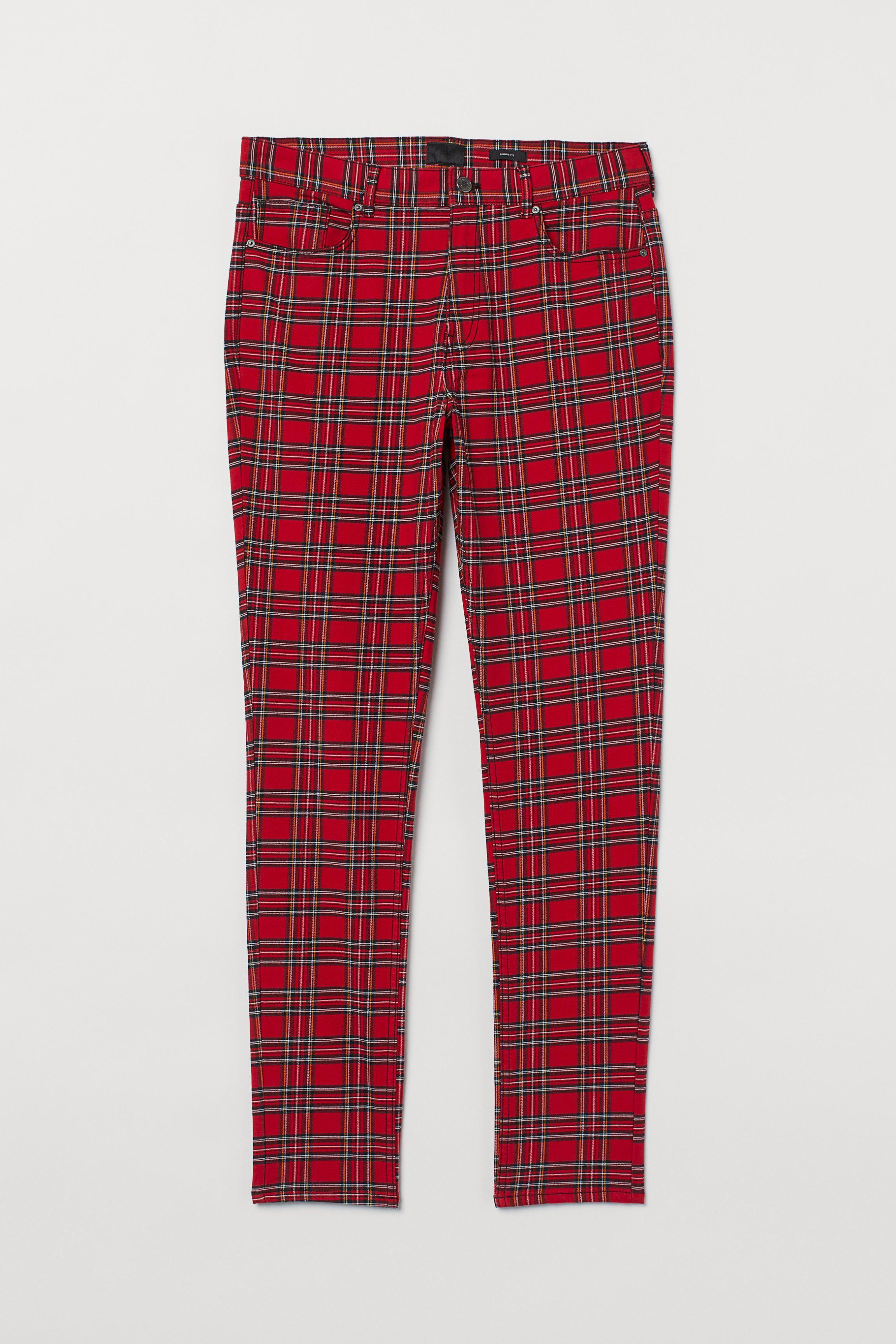 Skinny Fit Twill Pants
