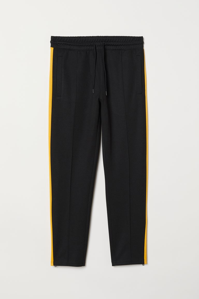 Sports Pants - Black/yellow - Men | H&M US