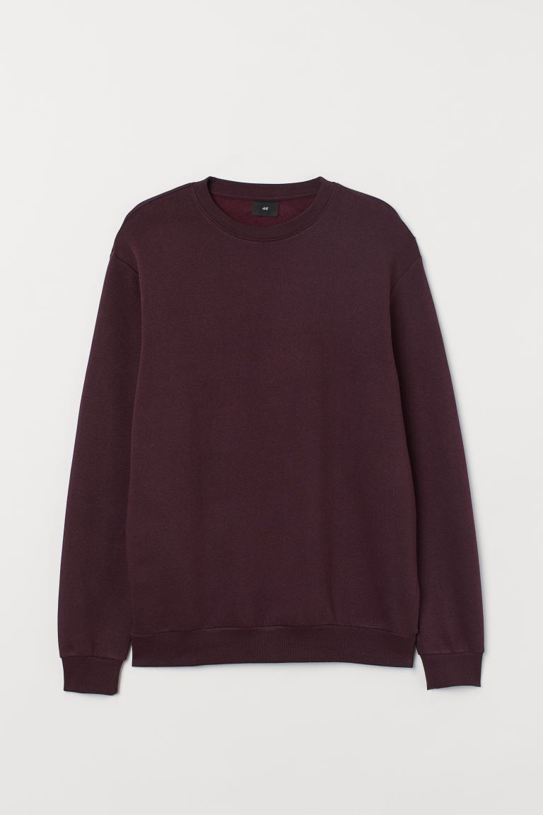 Sweat Relaxed fit - Bordeaux - HOMME | H&M FR