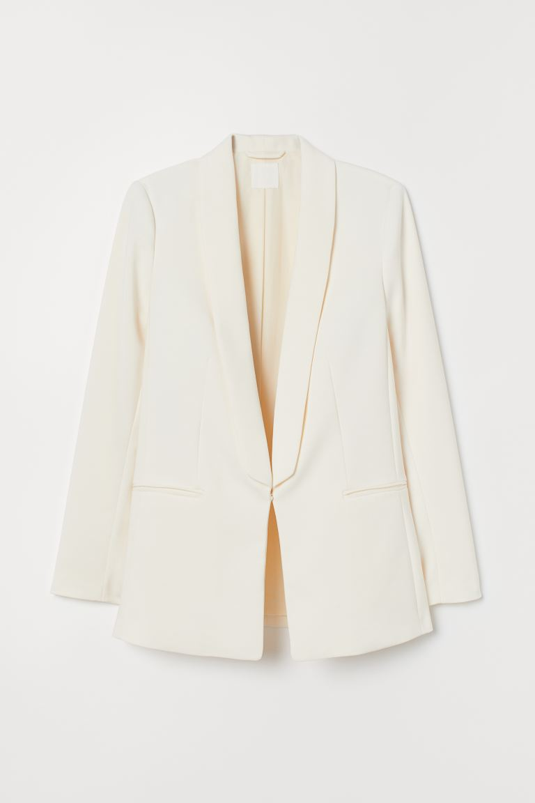 Shawl-collared jacket - Cream - Ladies | H&M GB