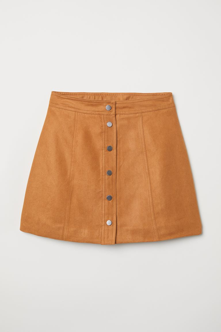 A-line skirt - Camel - Ladies | H&M GB