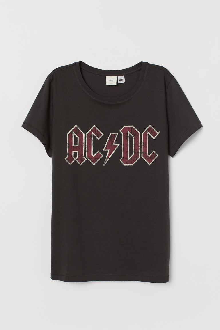 Playera con diseño - Negro/AC/DC - Ladies | H&M MX