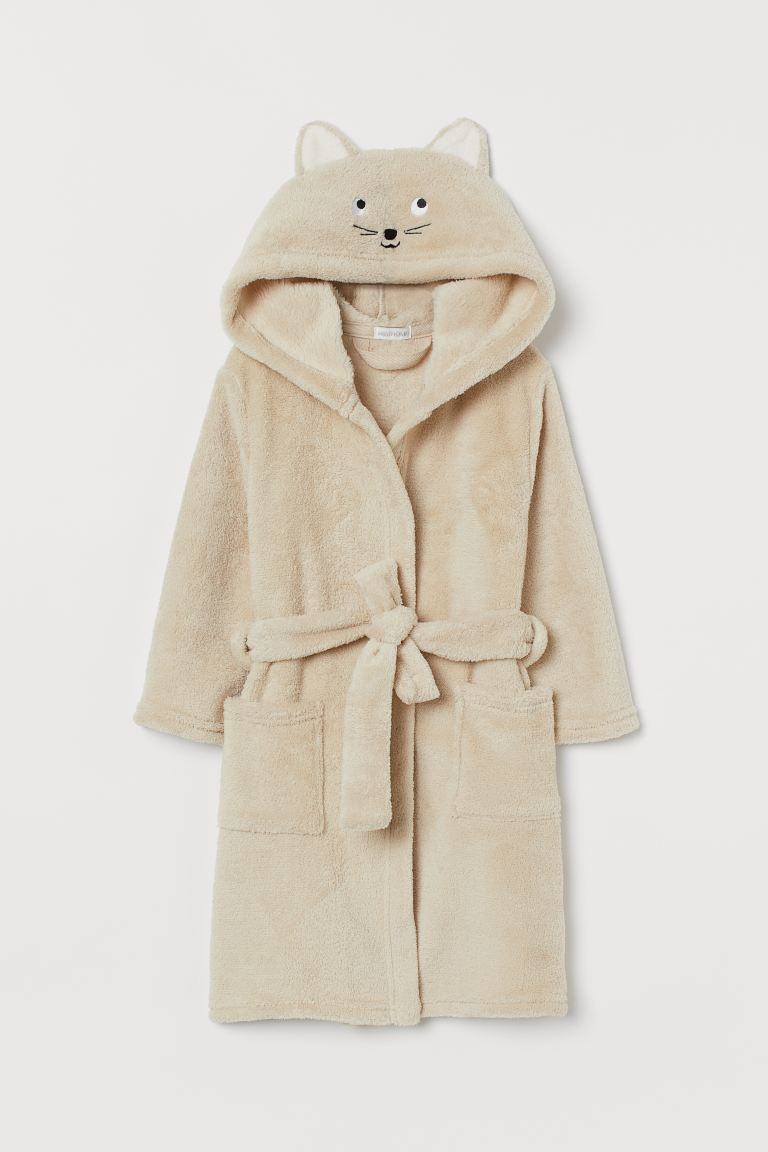 Dressing gown - Beige/Cat - Home All | H&M GB