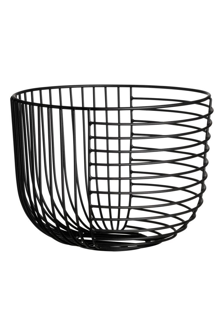 Round Metal Wire Basket Black Home All H M Us