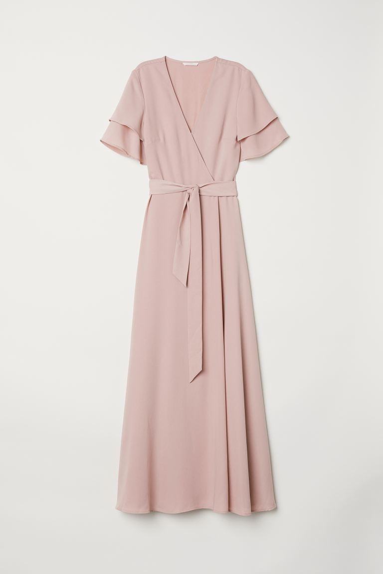 Wrap Dress - Powder pink - Ladies | H&M CA