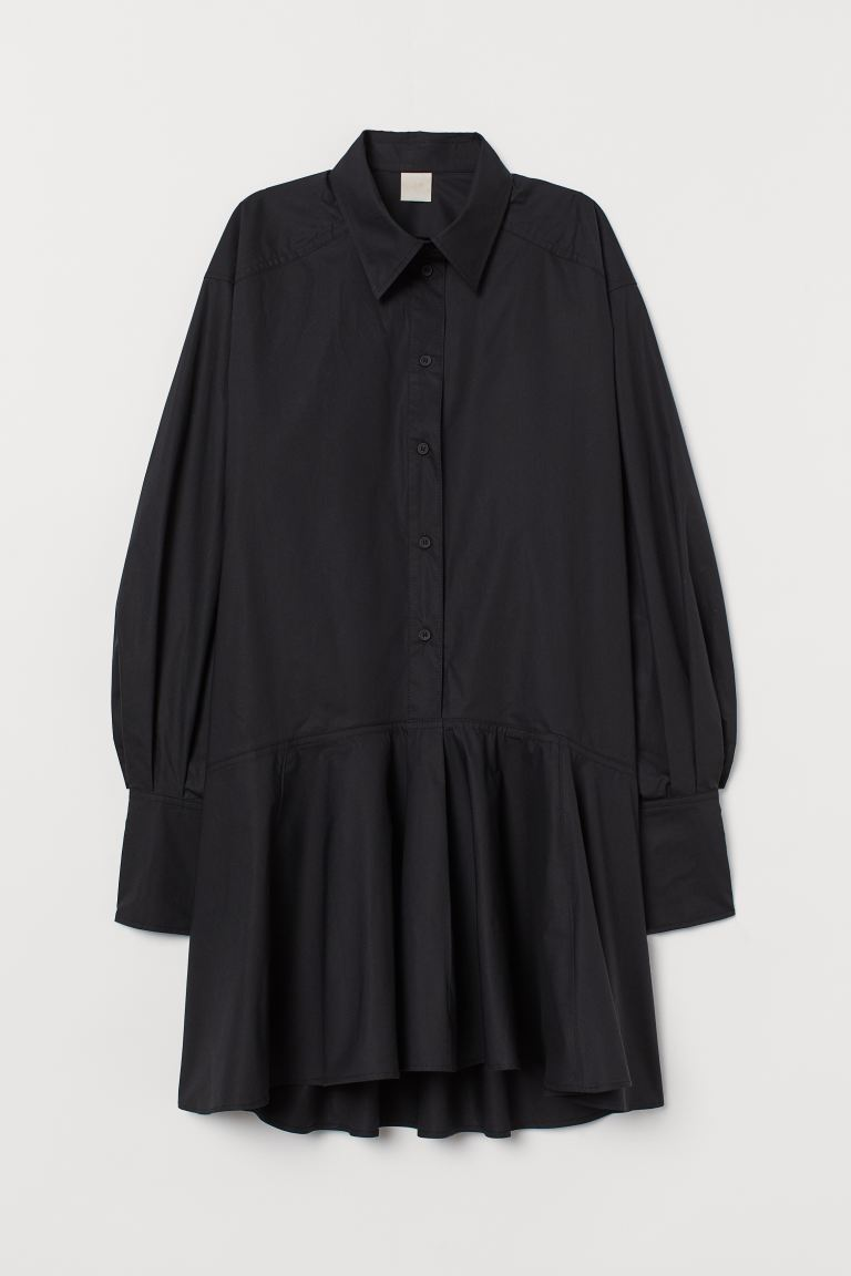 Cotton tunic - Black - Ladies | H&M IE