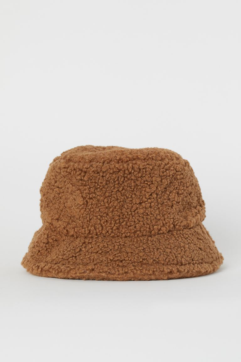 Faux Shearling Bucket Hat - Brown - Ladies | H&M US