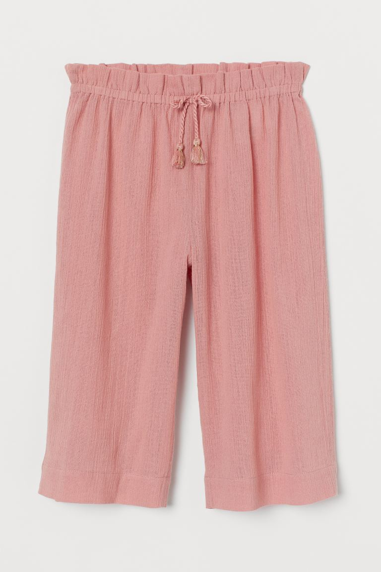 Crinkled Culottes - Powder pink - Kids | H&M US