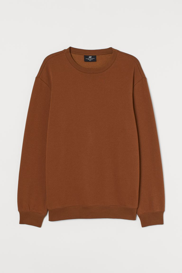 Sweater - Relaxed Fit - Bruin - HEREN | H&M NL