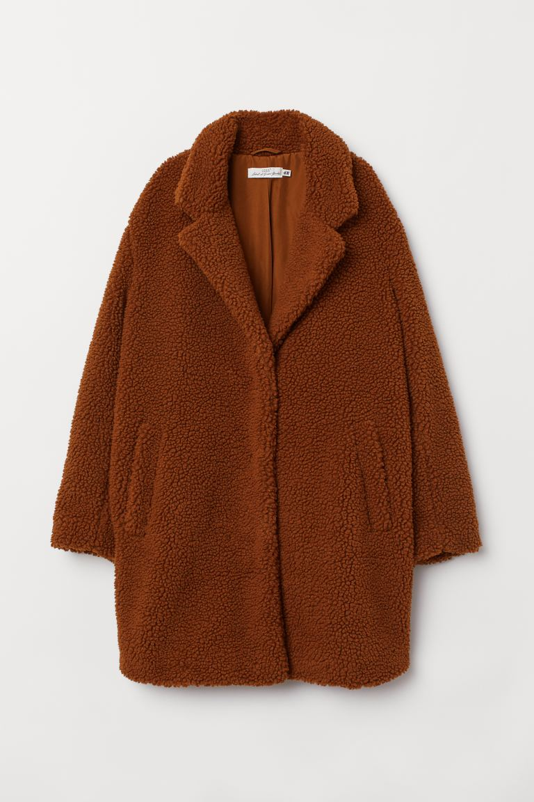 Short Faux Shearling Coat - Brown - Ladies | H&M CA