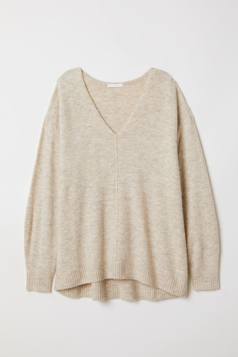 Fine-knit Sweater - Light beige melange - Ladies | H&M US