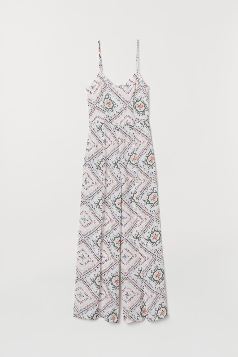 Patterned jumpsuit - Natural white/Patterned - Ladies | H&M GB