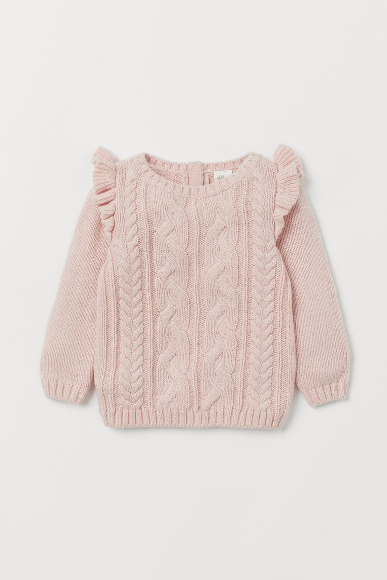 Textured-knit Sweater - Light pink - Kids | H&M US