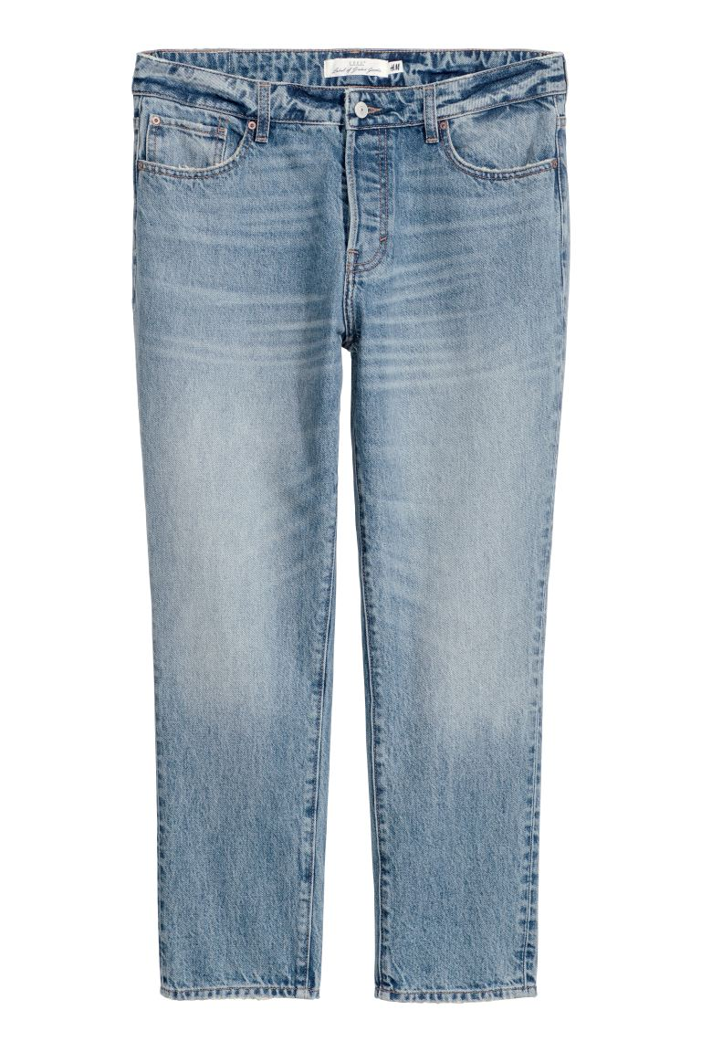 Girlfriend Jeans - Light denim blue - Ladies | H&M GB