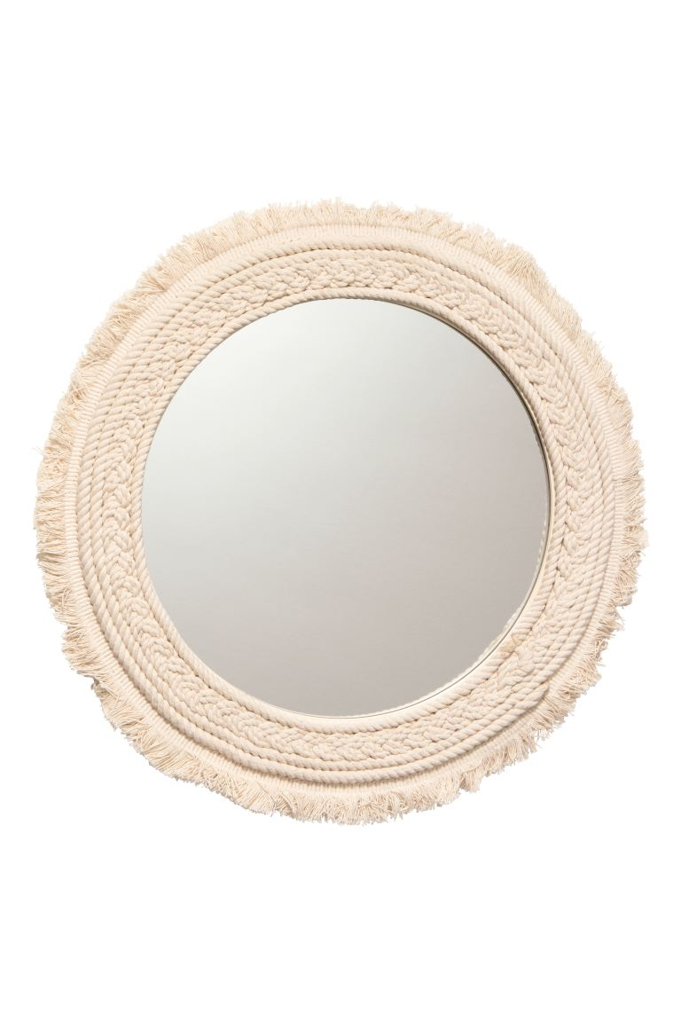 Round mirror - Natural white - Home All | H&M GB