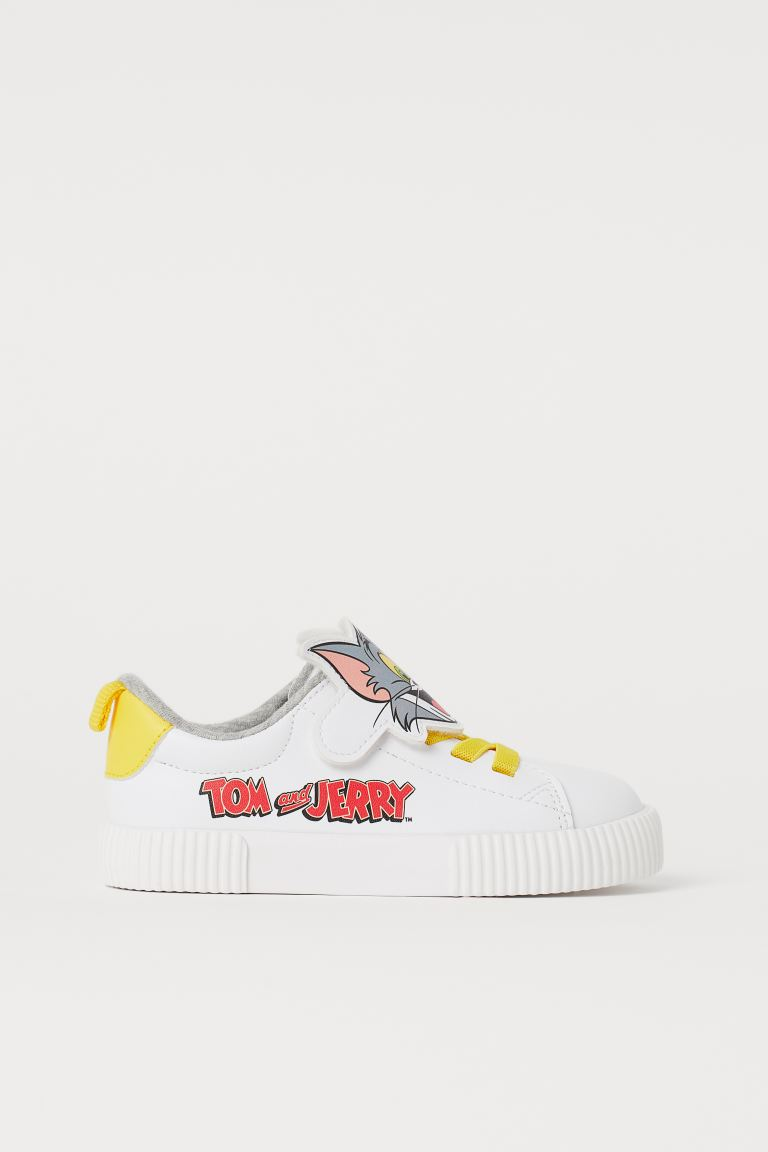 Printed Sneakers - White/Tom and Jerry - Kids | H&M US