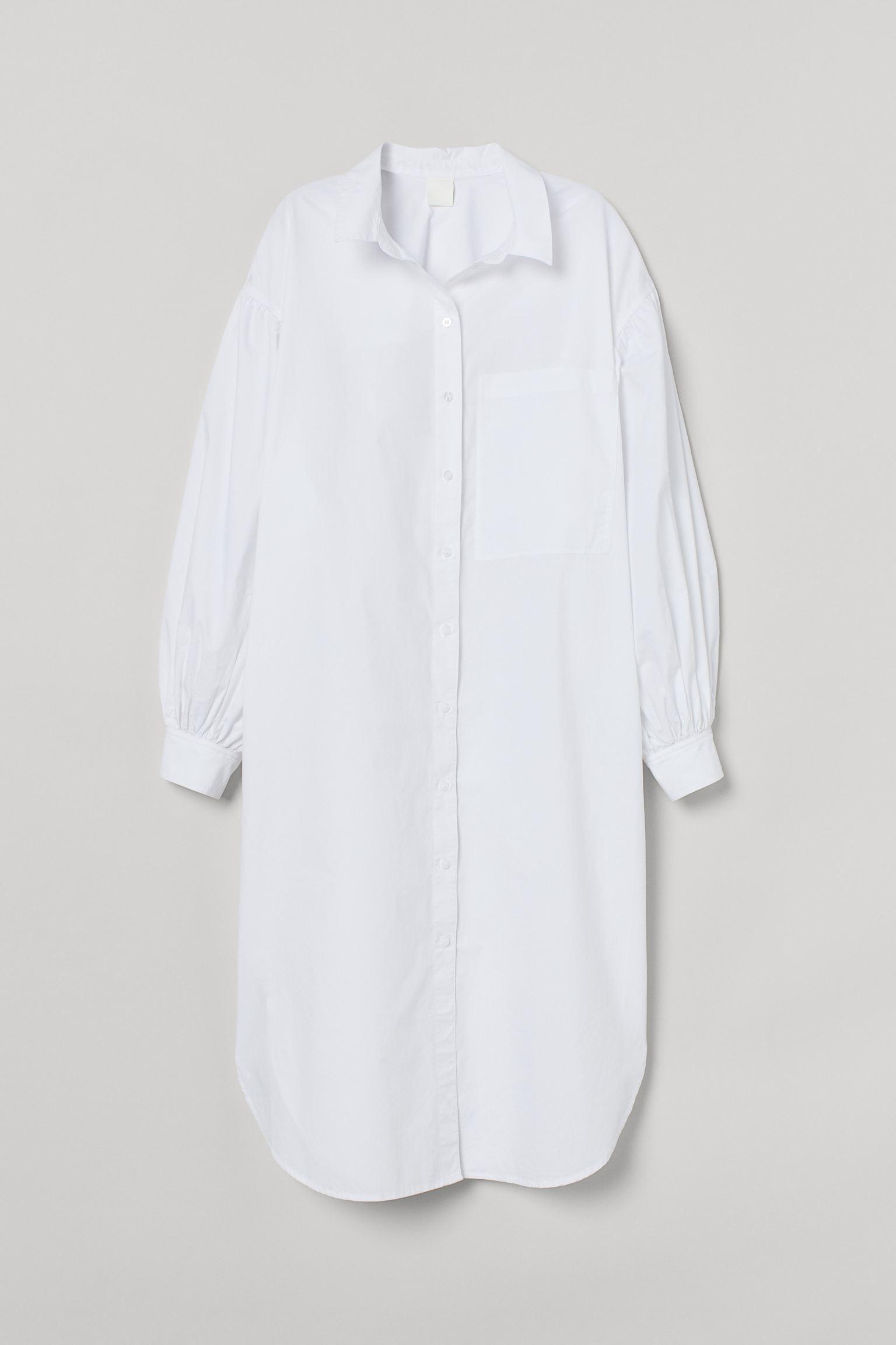 Cotton shirt dress h&m