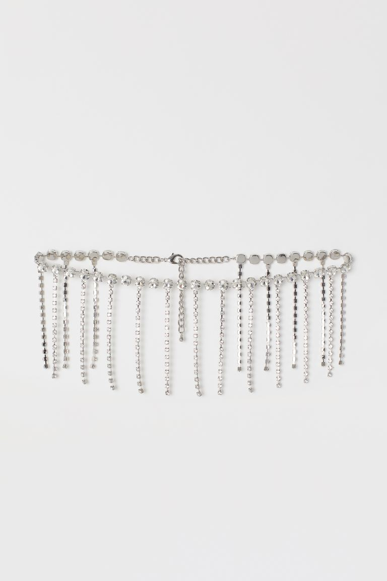 Rhinestone Waist Belt - Silver-colored - Ladies | H&M US