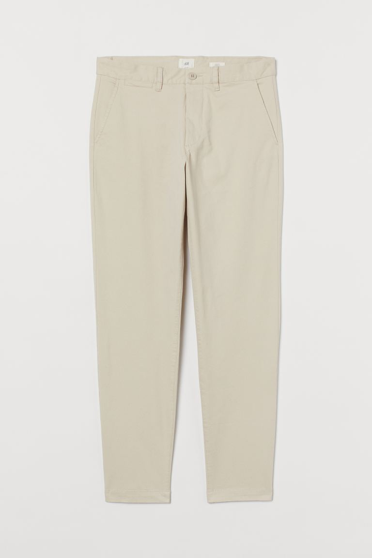 Slim Fit Chinos - Light beige - Men | H&M