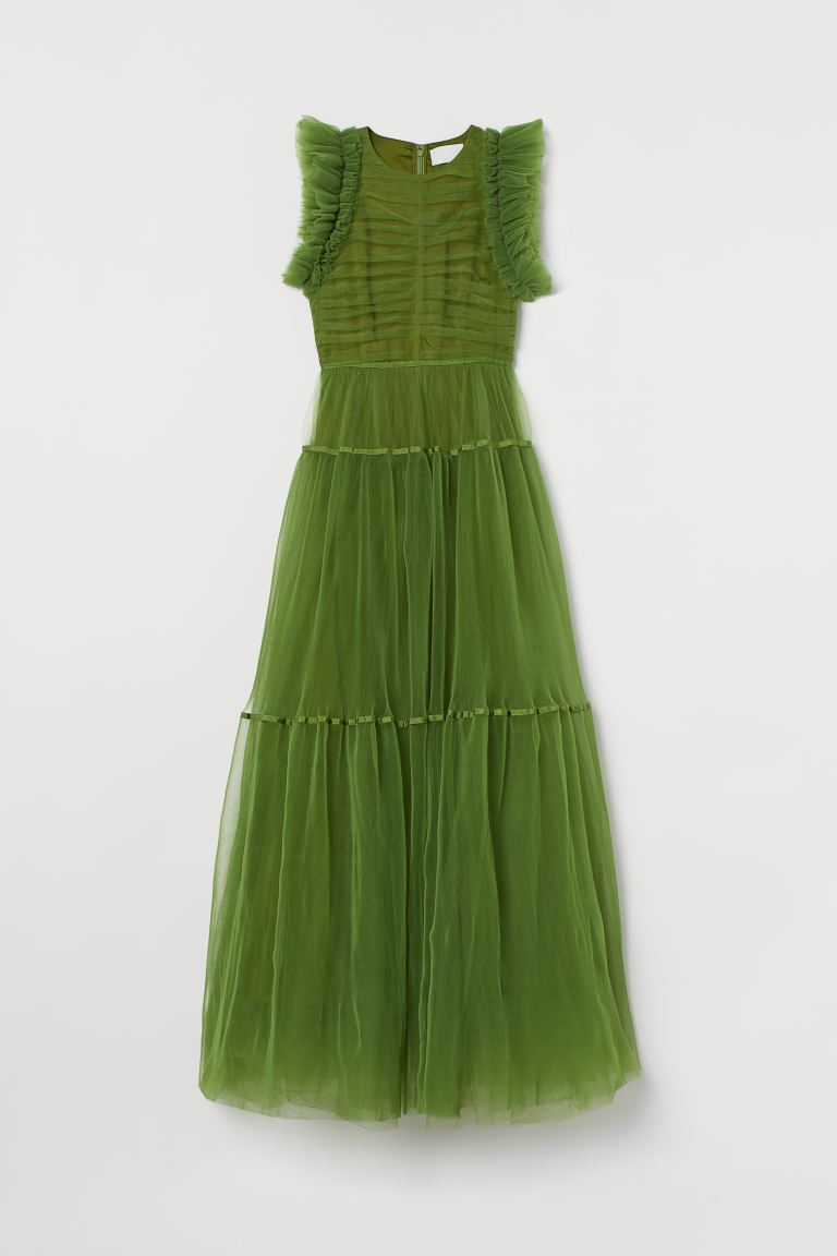 Tulle dress - Green - Ladies | H&M IE